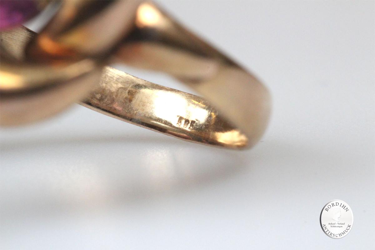 Ring 14 Karat Gold Amethyst Fingerring Schmuckring Goldring Geschenk