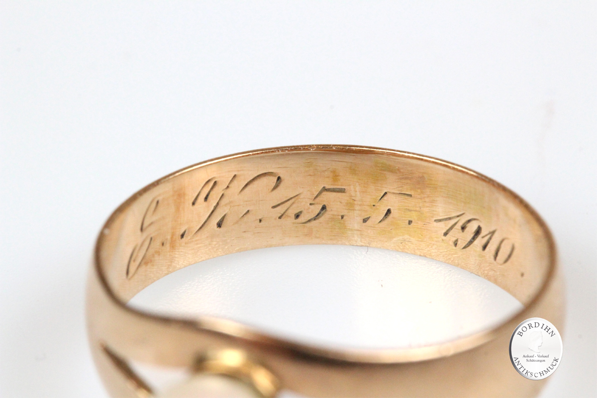 Ring 14 Karat Gold Perle Perlenring Schmuckring Goldring Damen Schmuck
