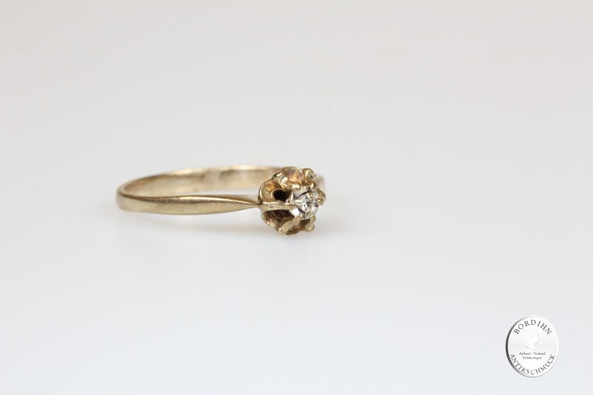 Ring 8 Karat Gold Brillant Goldring Schmuck Diamant Damen Geschenk
