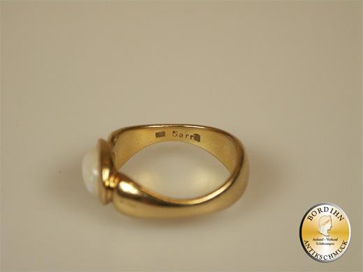 Ring 18 Karat Gold Opal Schmuckring Goldring Fingerring Damen Geschenk