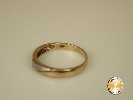 Ring 14 Karat Gold 1 Brillant Bandring Brillantring Schmuck Geschenk