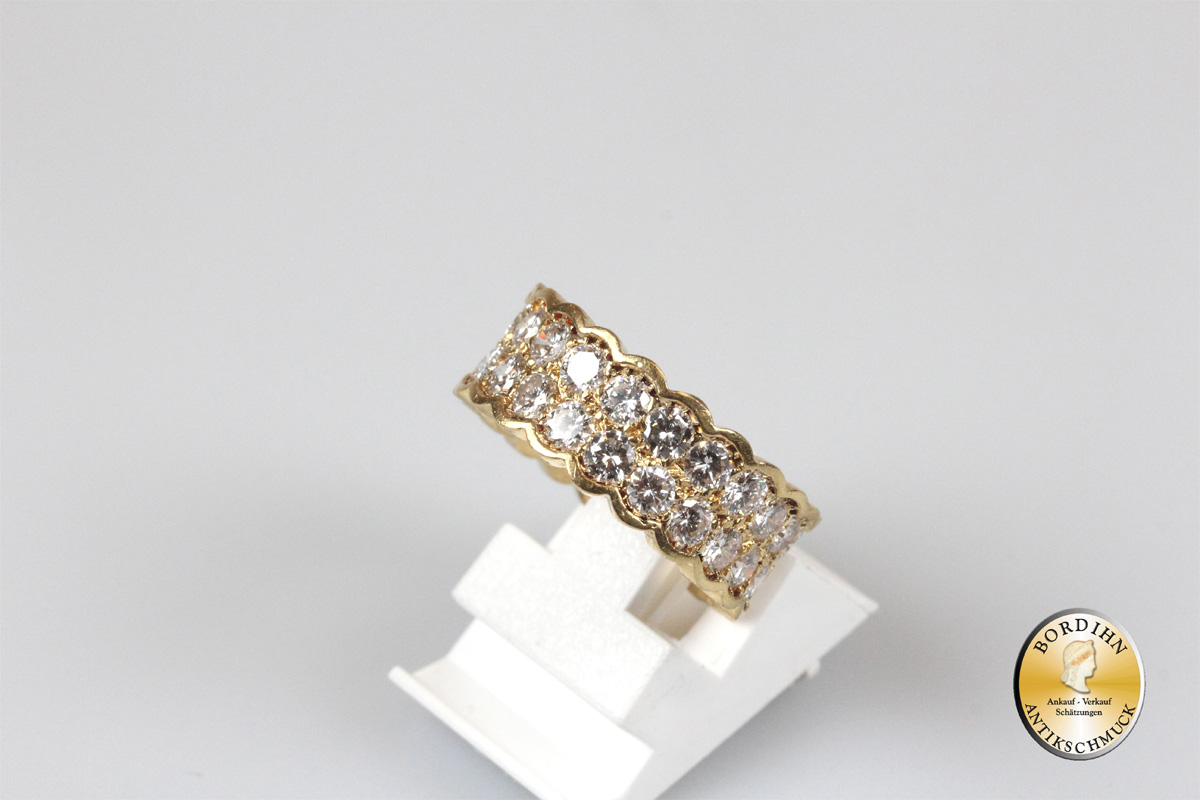 Ring 18 Karat Gold 3ct Brillanten Trauring Frankreich Goldring Diamant