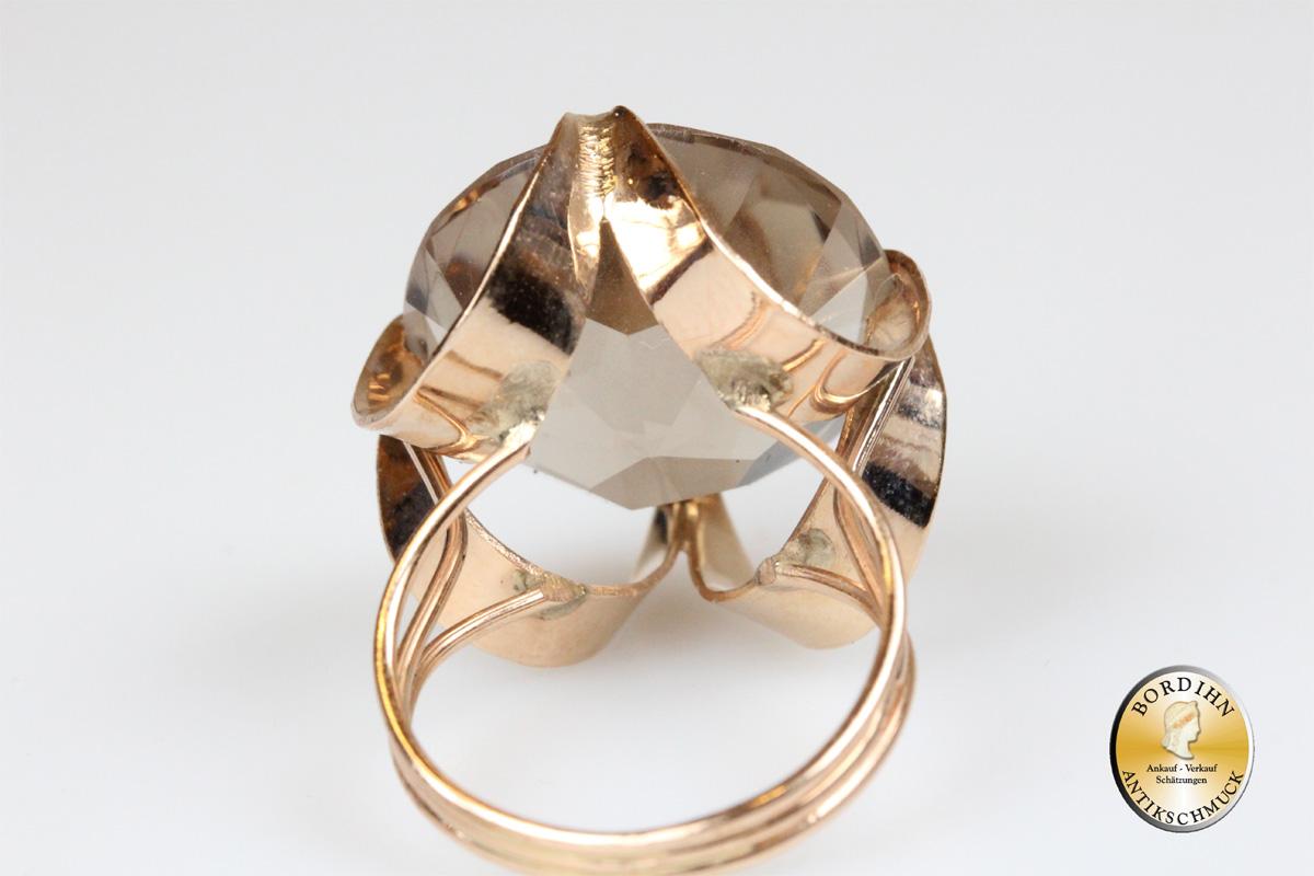 Ring 14 Karat Gold Rauchquarz Schmuck Edelstein Schmuckring Geschenk