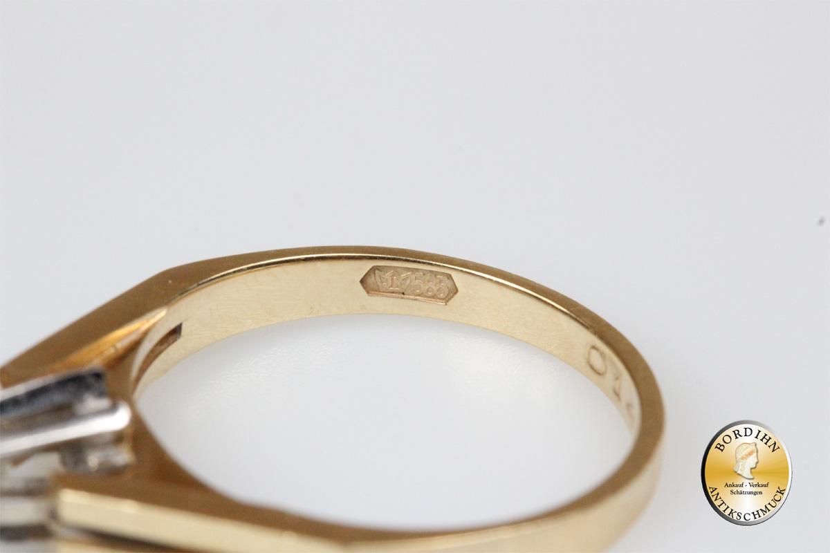 Ring 14 Karat Gold Brillant Goldring Schmuckring Damenring Geschenk