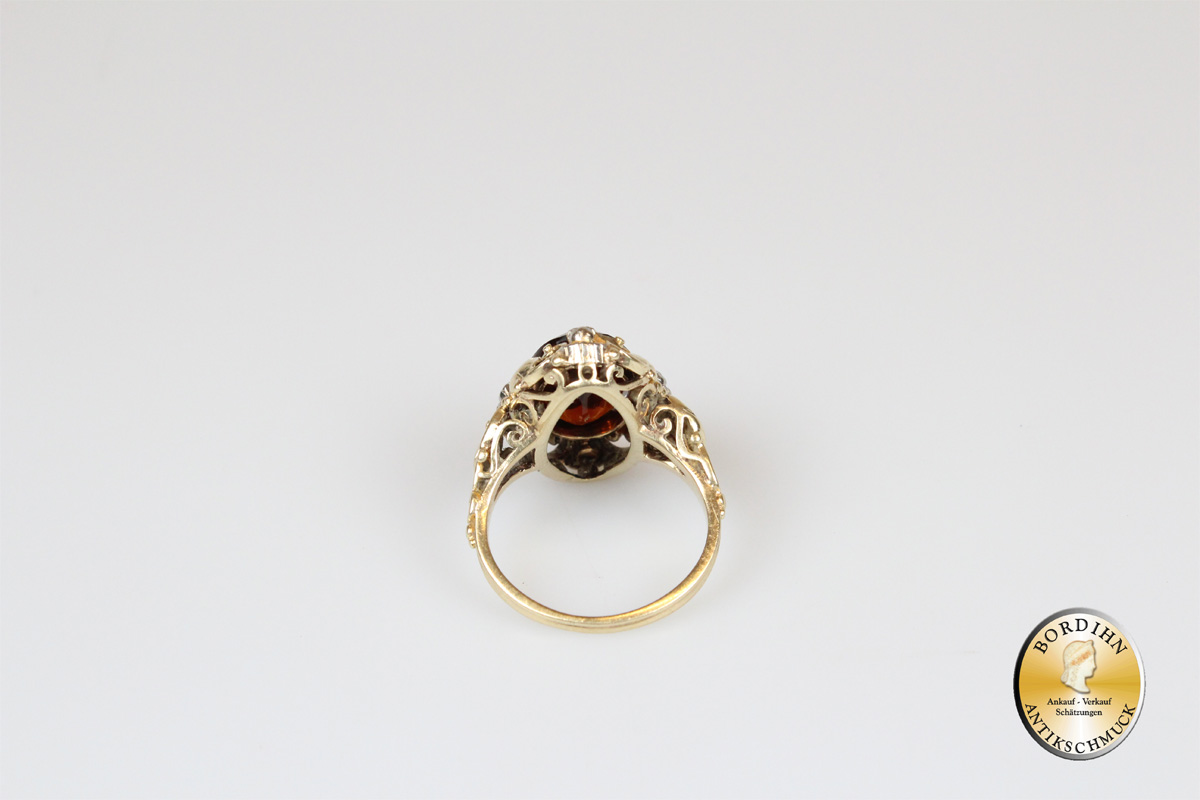 Ring 14 Karat Gold Topas antik Goldring Schmuckring Damenring Geschenk
