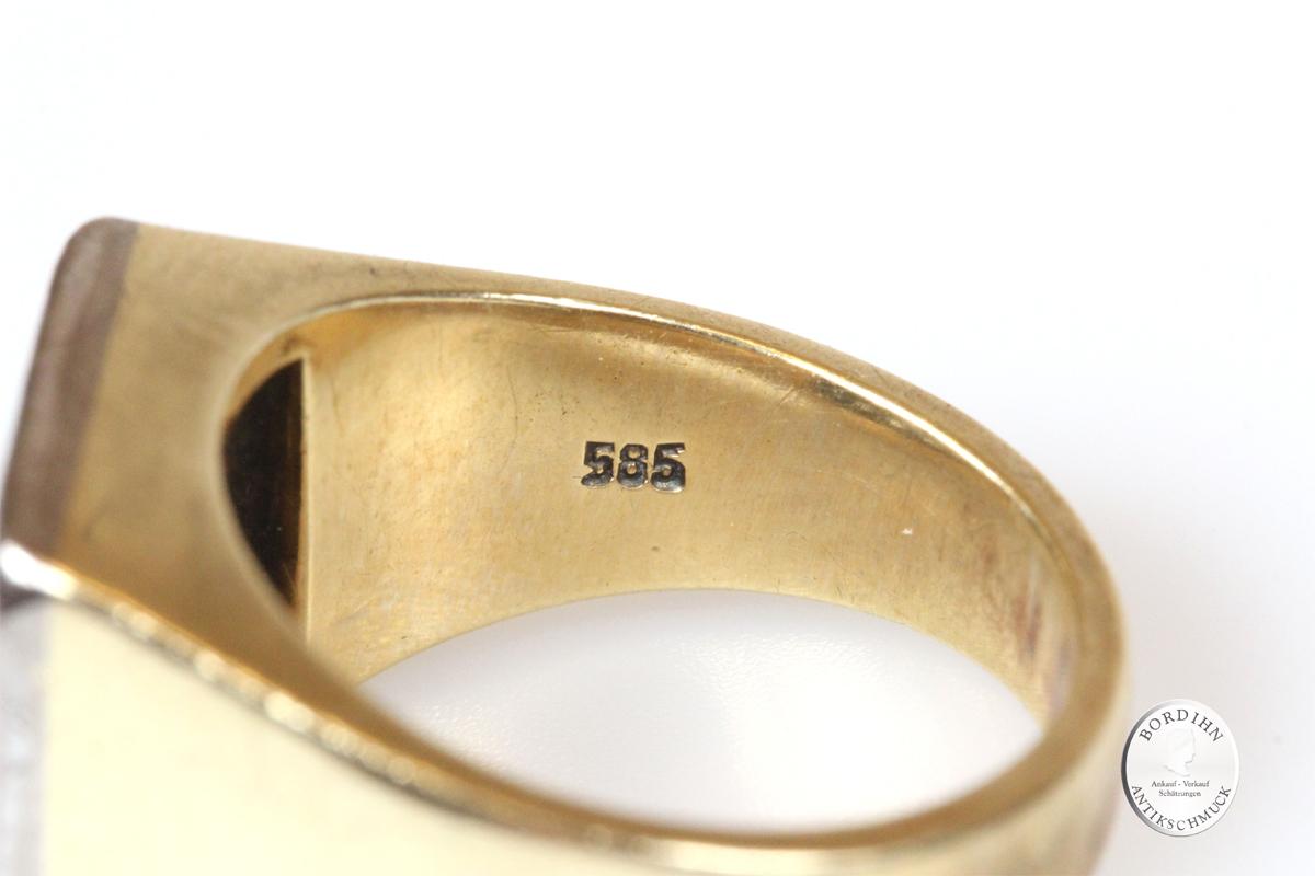Ring 14 Karat Gold 16 Brillanten Goldring Schmuckring Edelsteine Gold