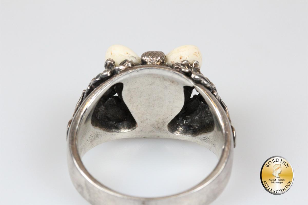 Ring; Sterling Silber mit Grandel