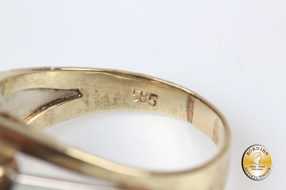 Ring 14 Karat Gold Citrin Goldring Schmuckring Edelstein Geschenk