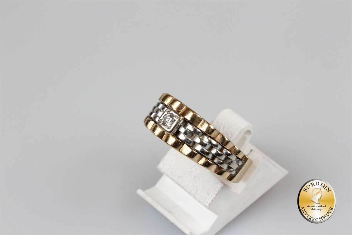 Ring; 14 Karat Gold, Brillant