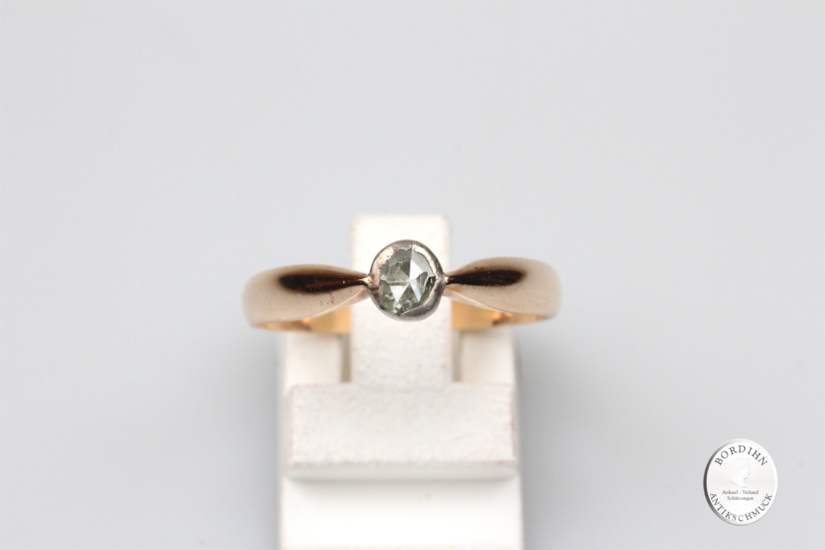 Ring 8 Karat Gold 1 Diamant Goldring Diamantring Edelstein Geschenk