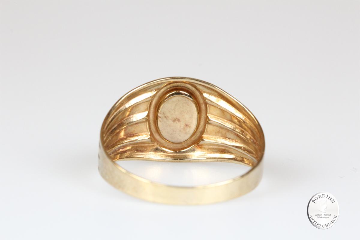 Ring 8 Karat Gold Lapislazuli Schmuck Goldring Edelstein Geschenk