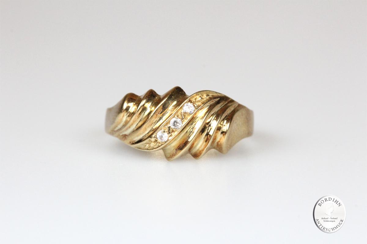 Ring 14 Karat Gold mit Farbstein Goldring Schmuckring Damen Geschenk