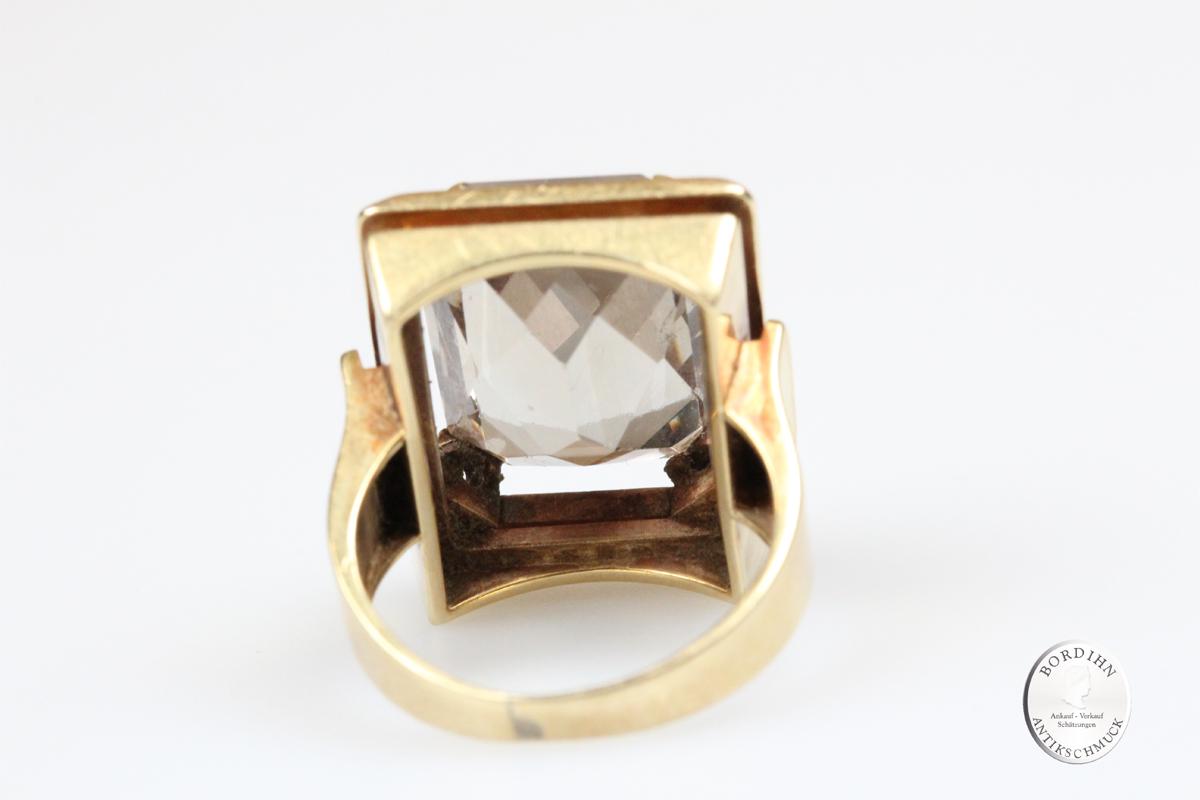 Ring 14 Karat Gold Spinell syn Goldring Schmuckring Damenring Geschenk