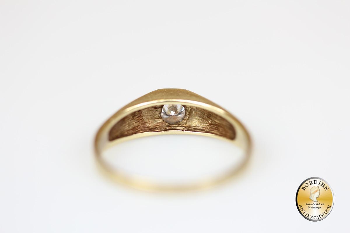 Ring 14 Karat Gold Brillant Brillantring Schmuck Diamant Geschenk