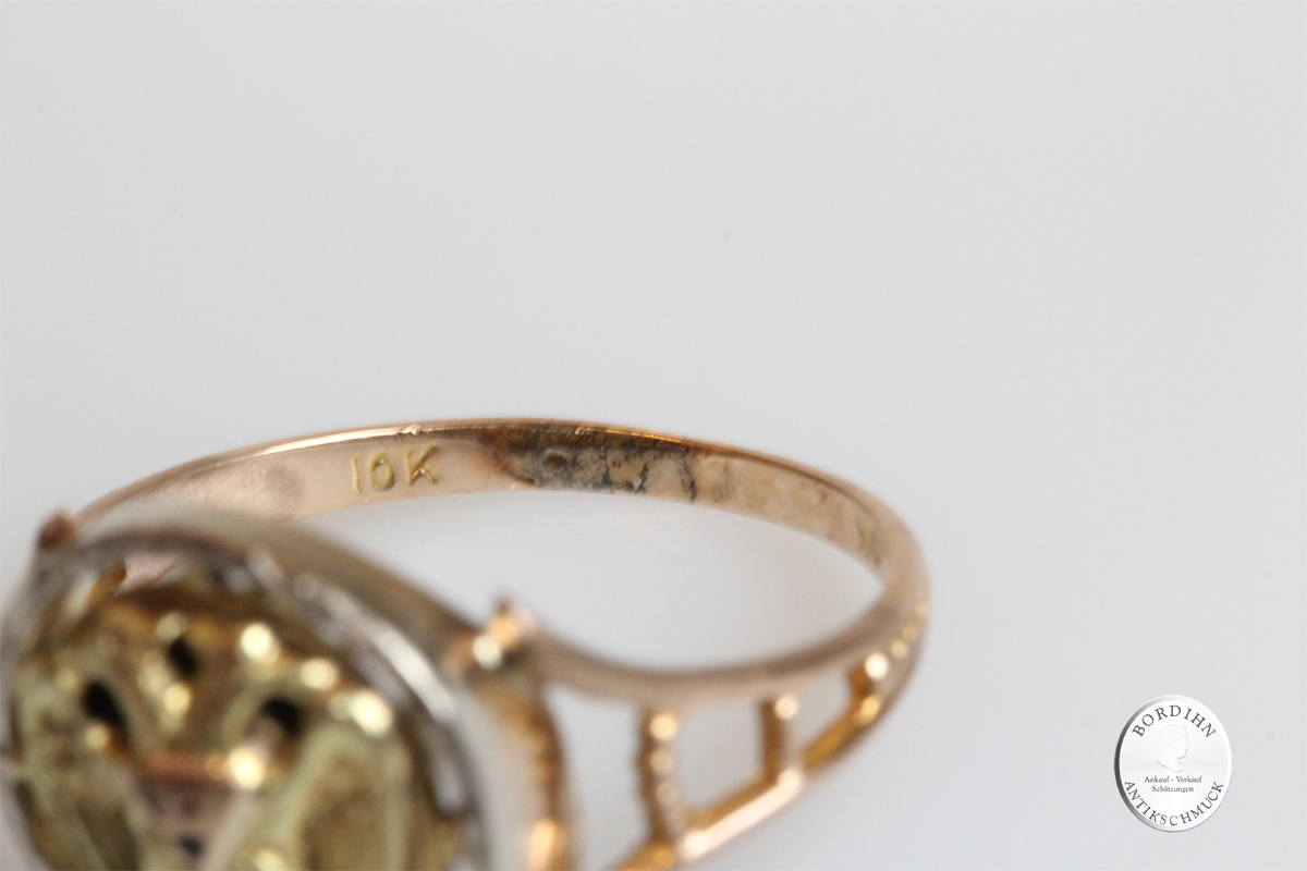 Ring 10 Karat Gold Freimaurer Schmuckring Goldring antik Geschenk