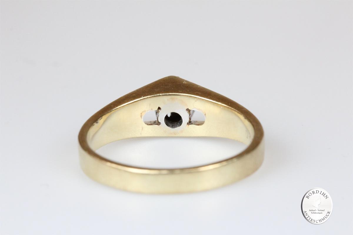 Ring 14 Karat Gold mit Brillant Goldring Schmuckring Diamant Geschenk