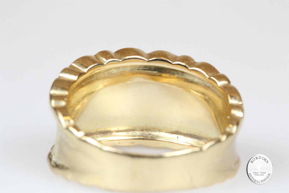 Ring 14 Karat Gold Diamant Bandring Goldring Schmuck Edelsteine Damen