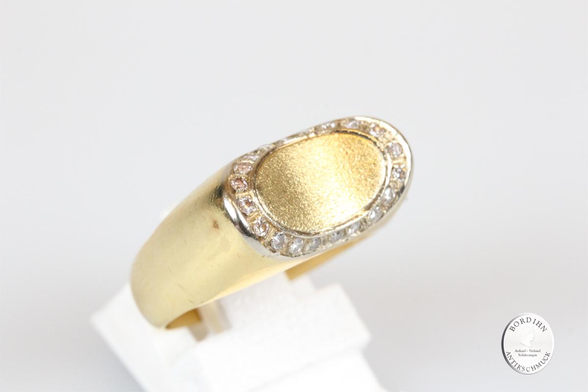 Ring 18 Karat Gold Diamanten Goldring Schmuckring Edelsteine Schmuck