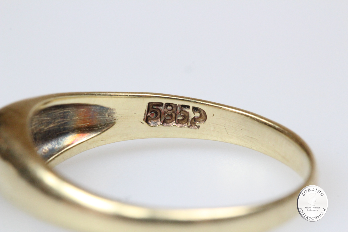 Ring 14 Karat Gold Diamant Bandring Goldring Schmuckring Fingerring