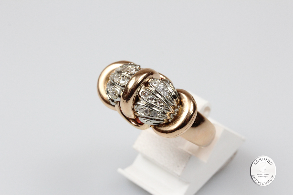 Ring 18 Karat Gold Diamanten Edelsteine Fingerring Damenring Geschenk
