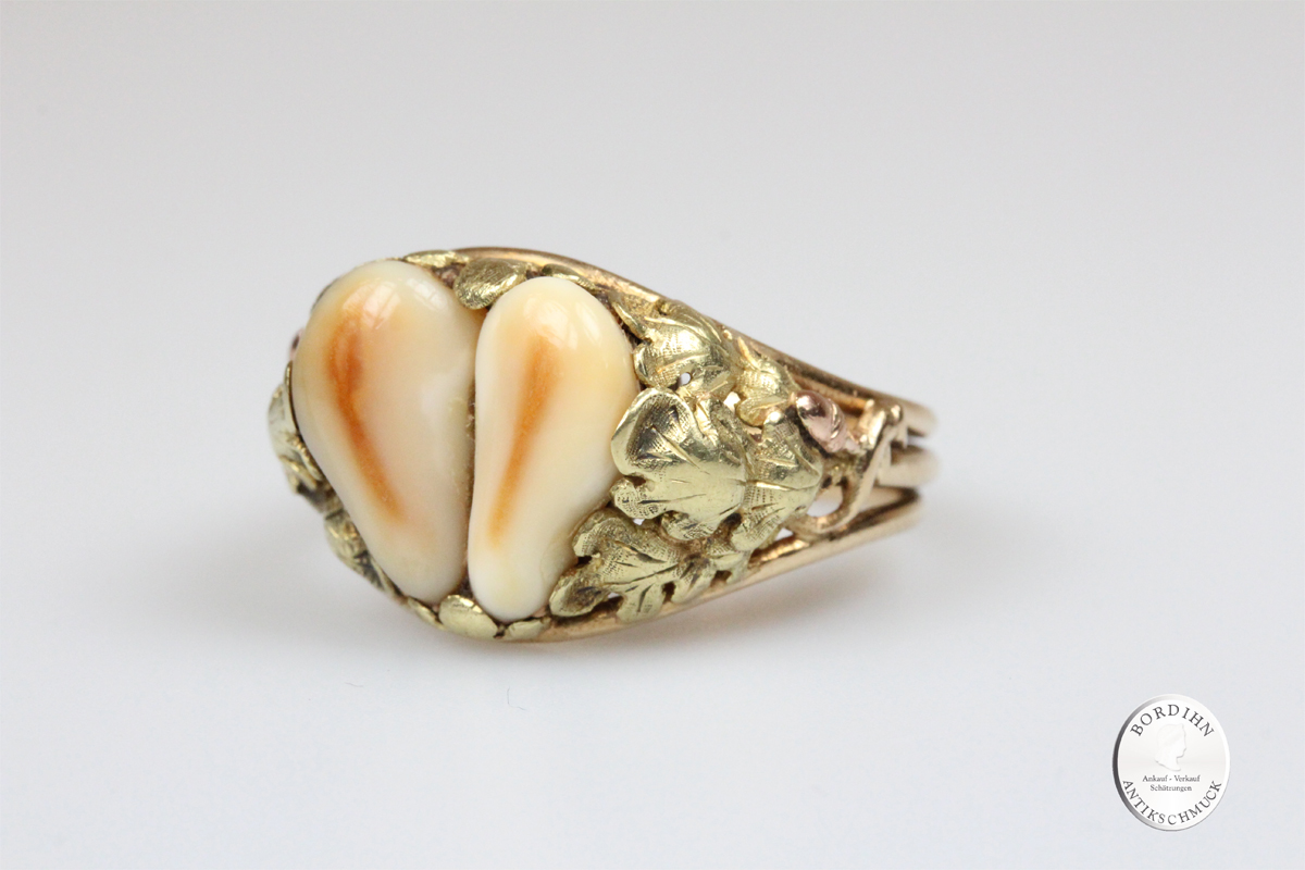 Ring 14 Karat Gold Grandel Herrenring Goldring Schmuckring Tracht alt