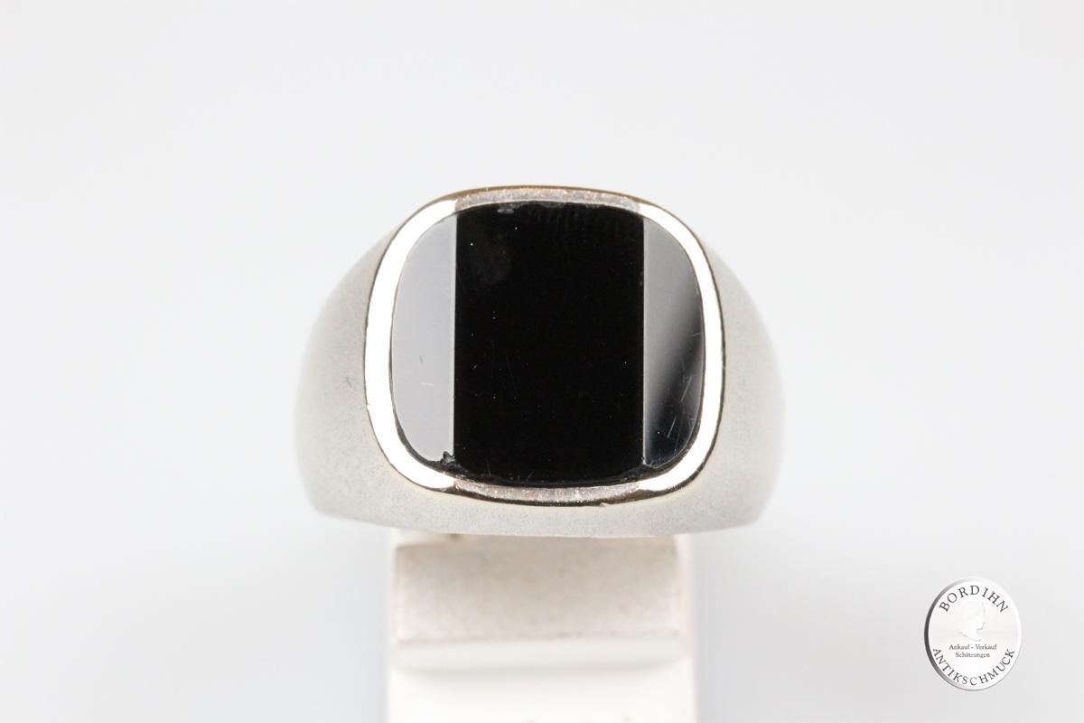 Ring 14 Karat Gold Onyx Herrenring Schmuckring Fingerring Schmuck