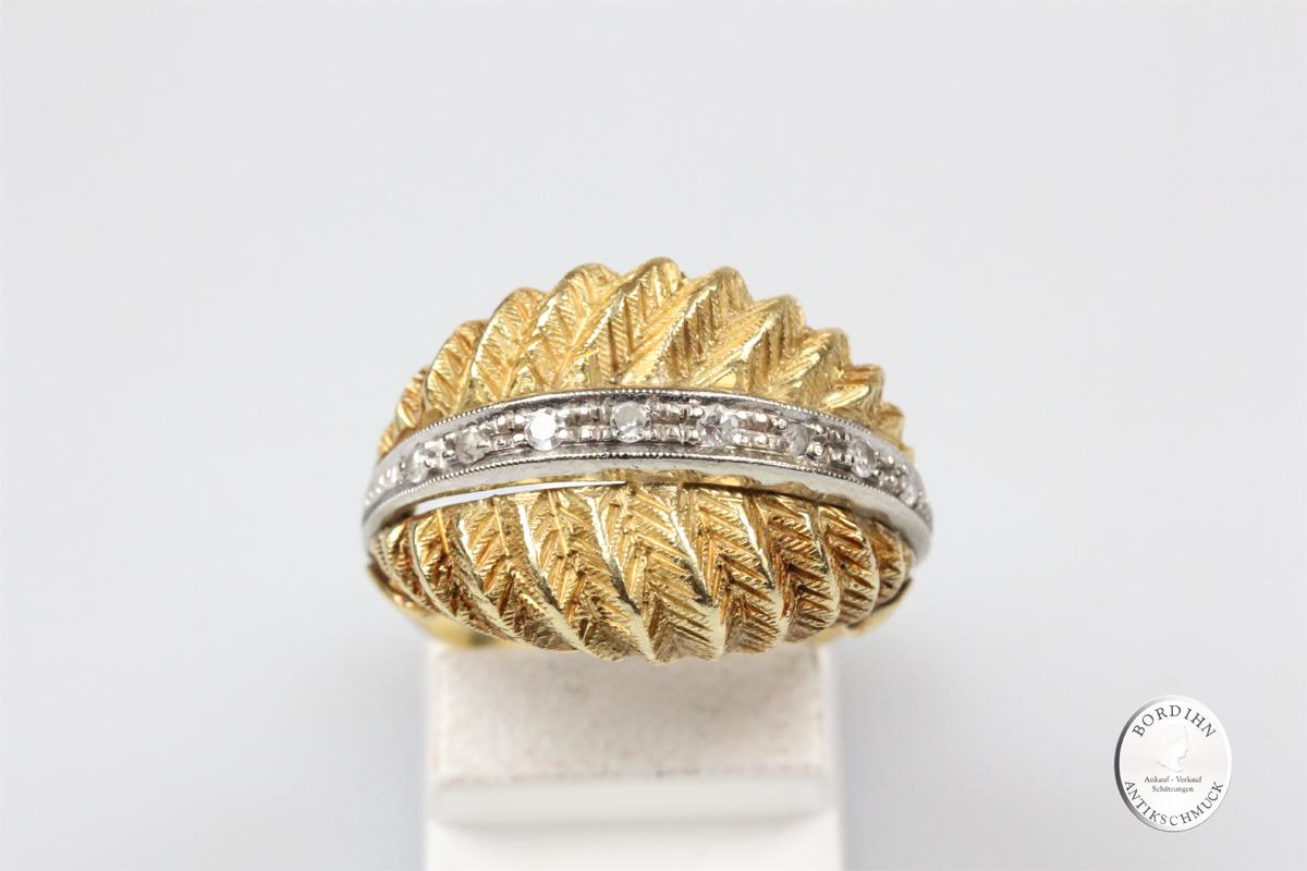 Ring 18 Karat Gold Diamanten Goldring Schmuckring Damenring Geschenk