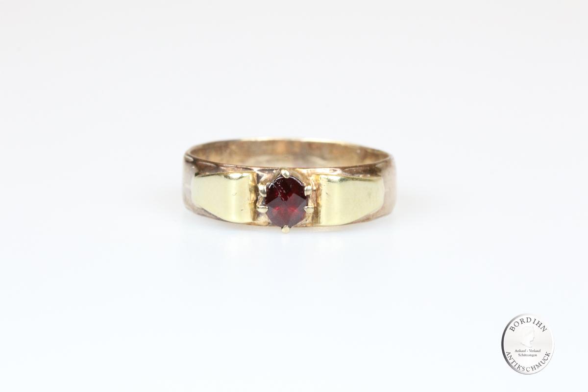 Ring 14 Karat Gold Granat Goldring Schmuckring Damen Geschenk
