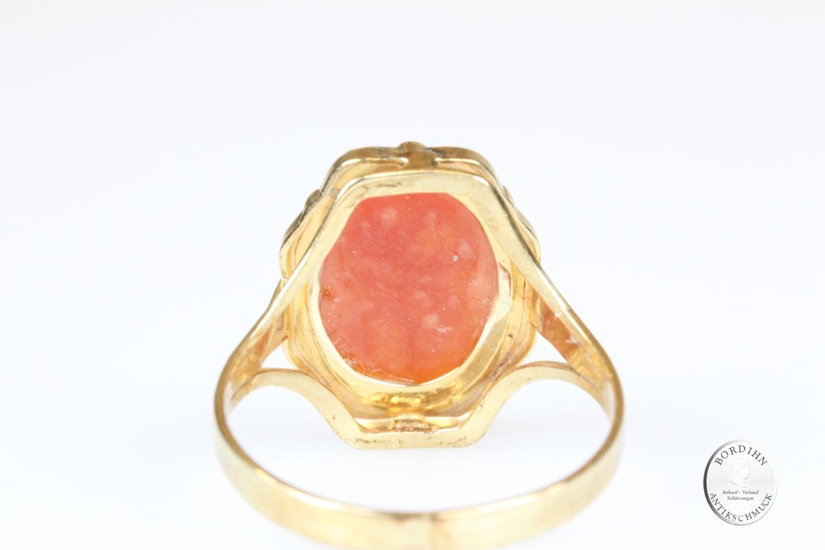 Ring 8 Karat Gold Gemme Goldring Schmuckring Damen Schmuck Geschenk