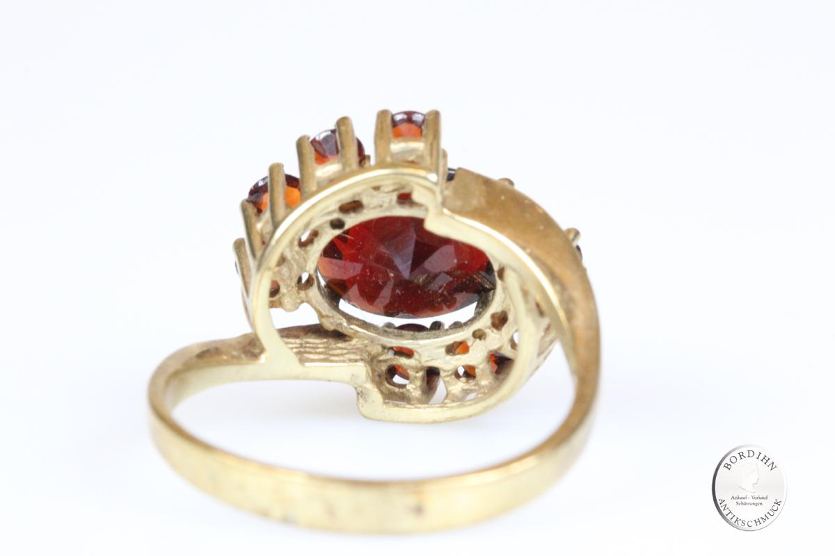 Ring 8 Karat Gold Granat Goldring Granatschmuck Schmuckring Damen