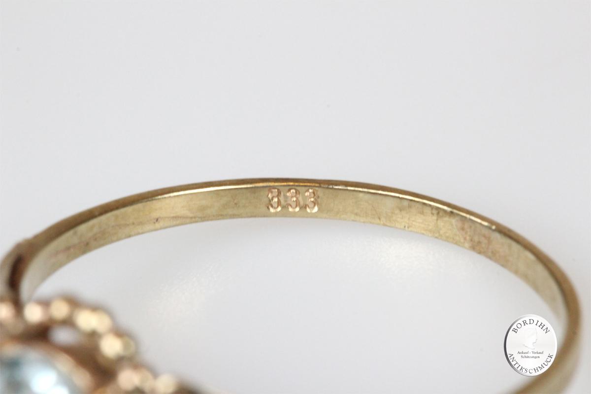 Ring 8 Karat Gold Farbstein antik Schmuck Damen Geschenk