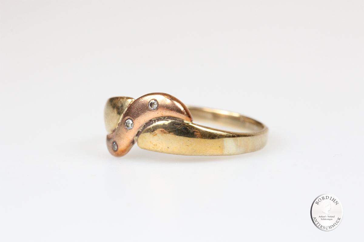 Ring 8 Karat Gold Diamanten Schmuckring Goldring Damenring Geschenk