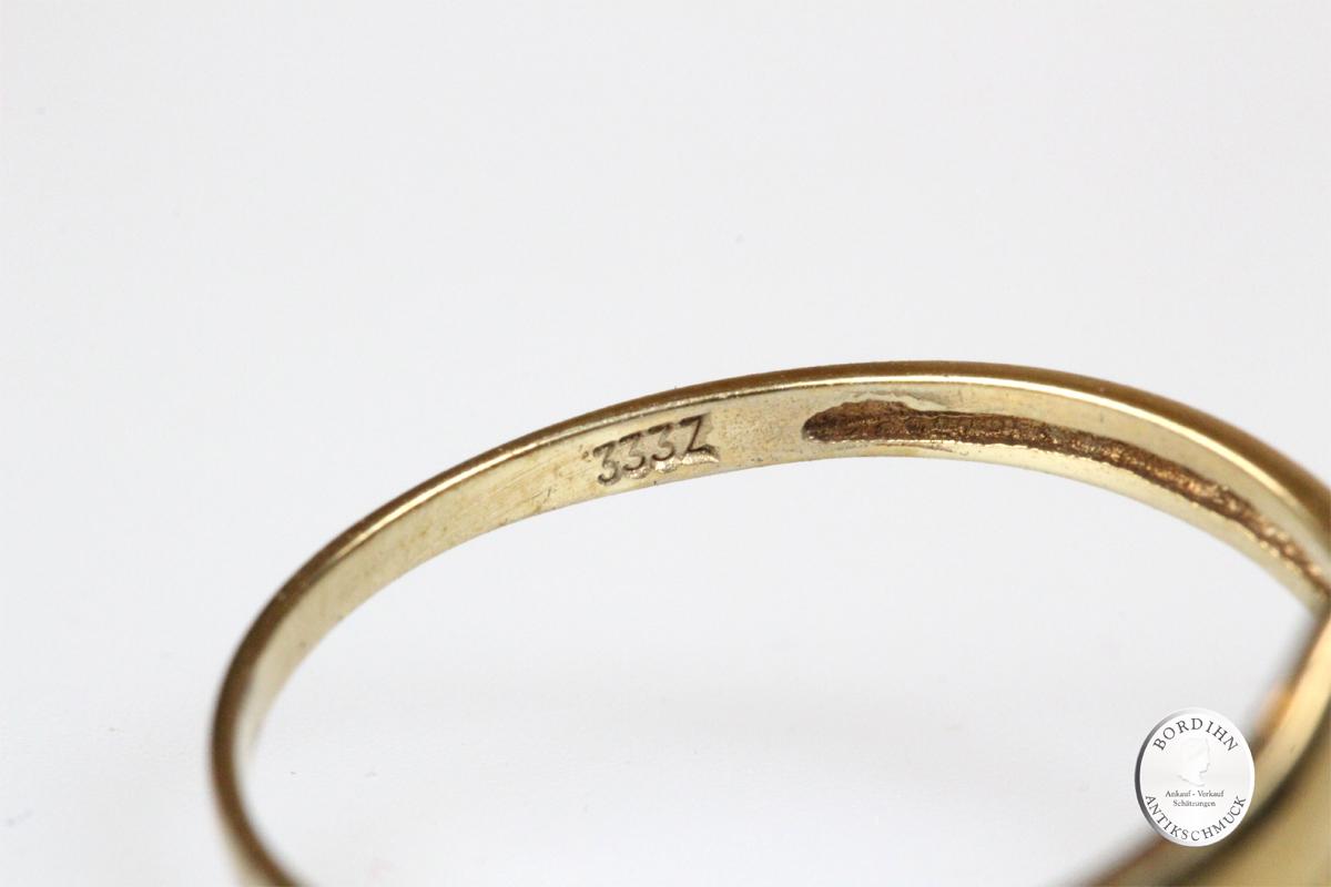 Ring 8 Karat Gold Farbstein Schmuckring Goldring Damenring Geschenk