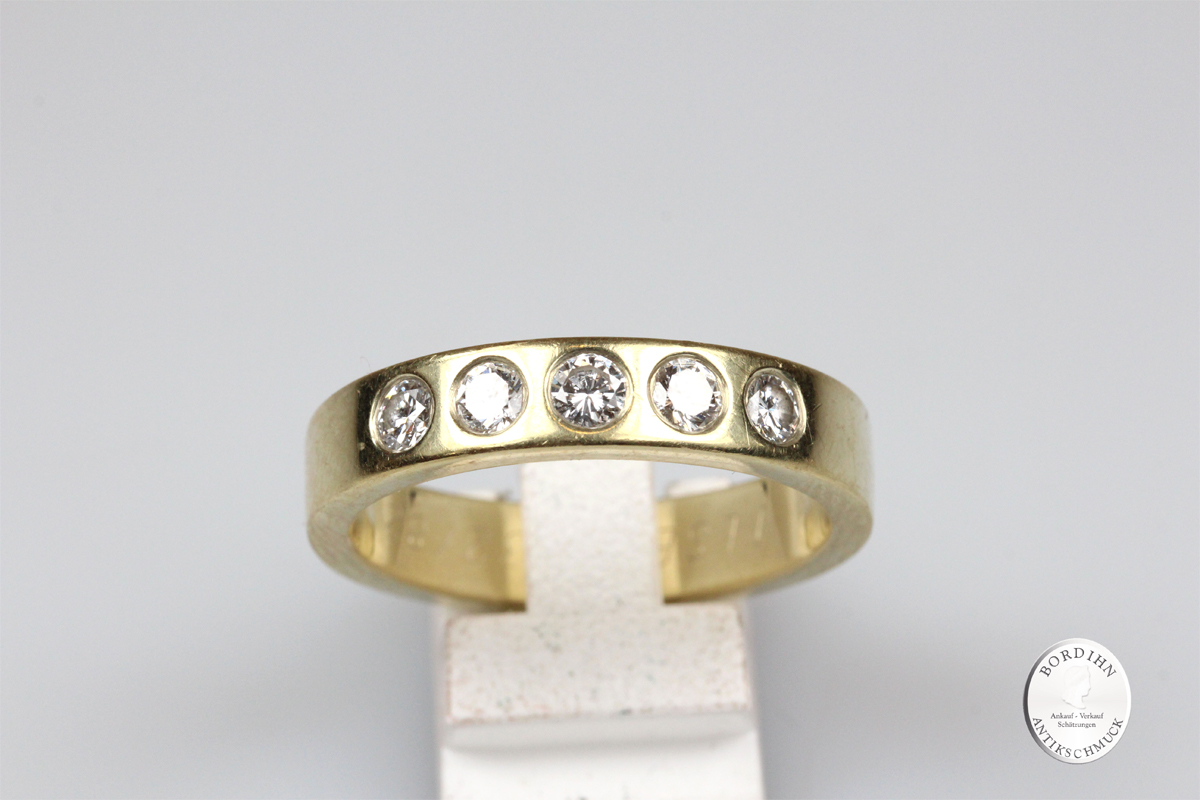 Ring 14 Karat Gold Brillanten Herrenring Brillantring Goldring Schmuck