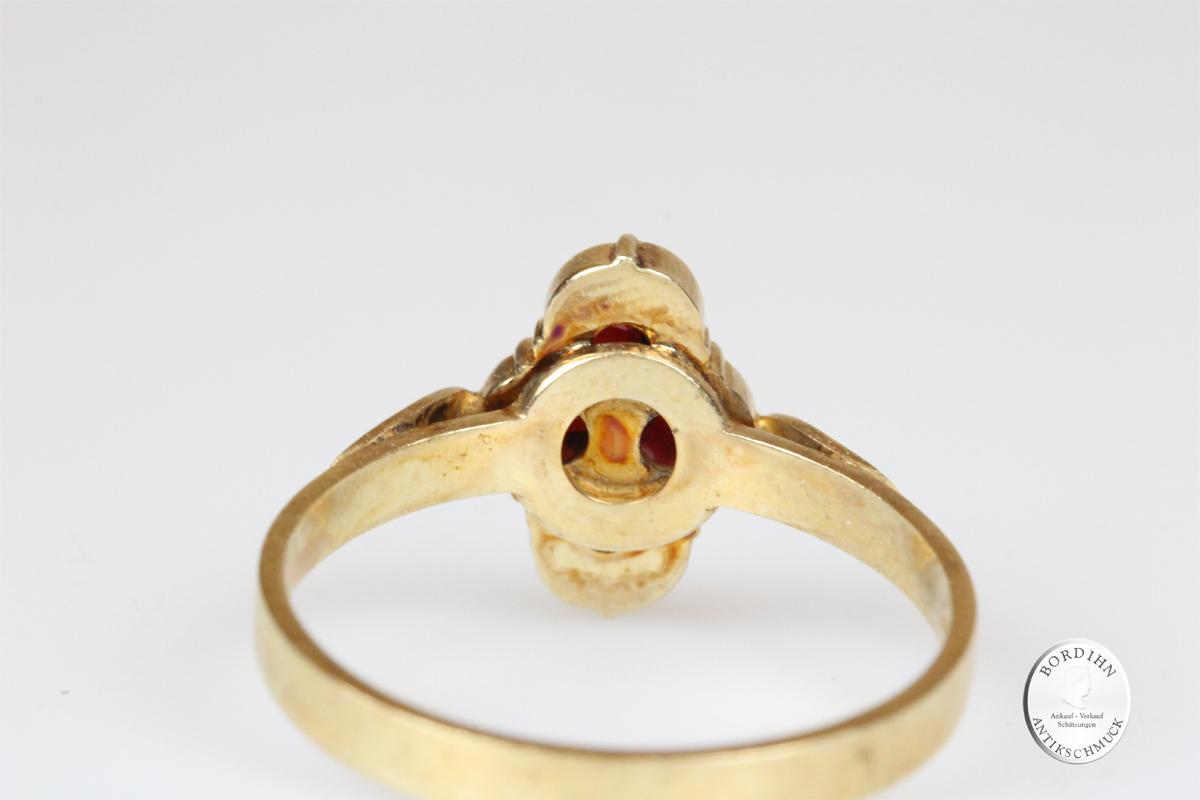 Ring 925 Silber vergoldet Granatschmuck Schmuckring Damen Geschenk