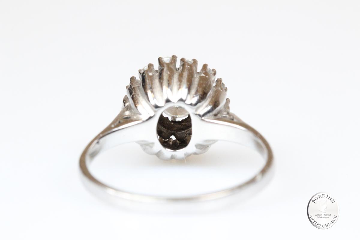Ring 18 Karat Weißgold Gold Brillant Goldring Diamant Schmuck Damen