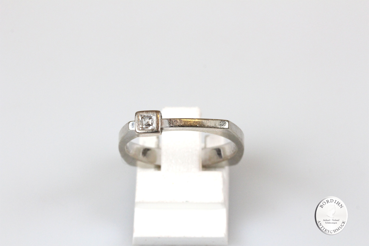 Ring 18 Karat Gold Weißgold Brillant Goldring Schmuckring Diamant