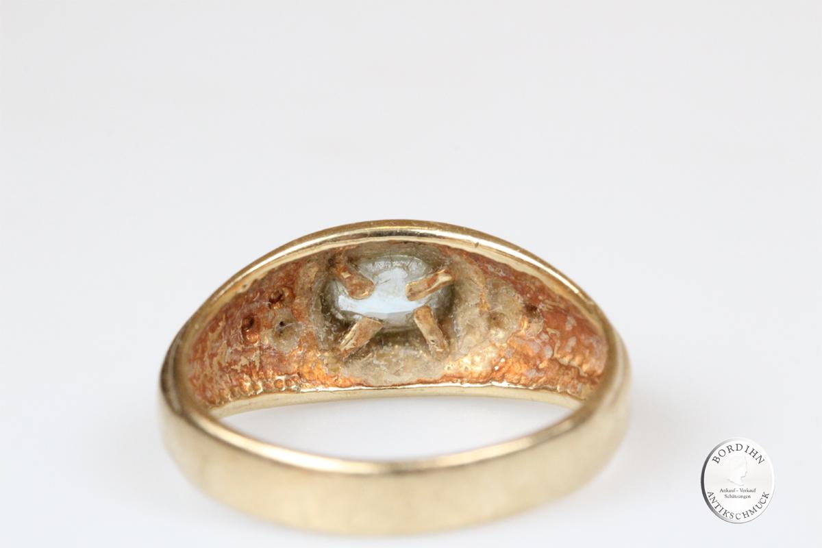 Ring 9 Karat Gold Farbstein Goldring Schmuckring Schmuck Geschenk