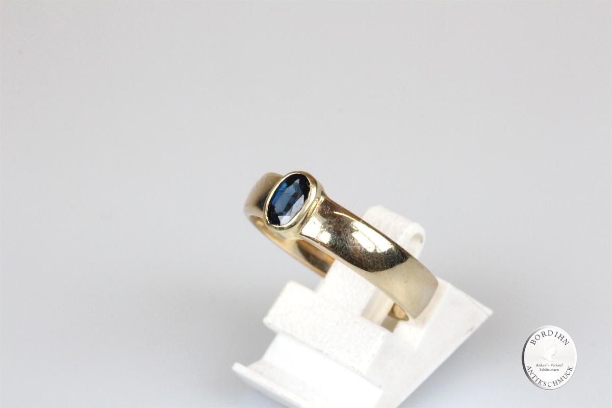 Ring 14 Karat Gold Saphir Goldring Edelstein Schmuck Geschenk