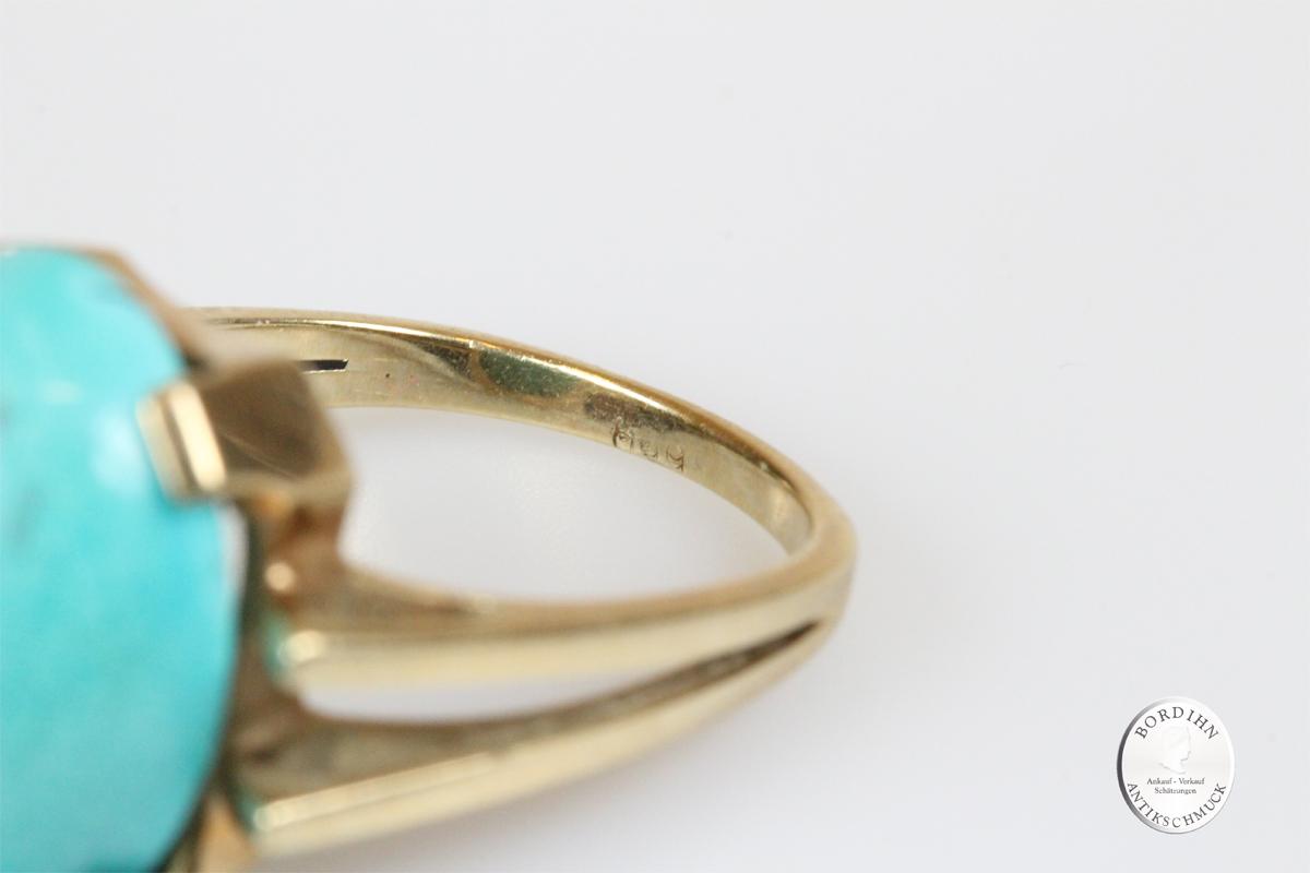 Ring 14 Karat Gold Türkis Goldring Schmuckring Schmuck Damen Geschenk