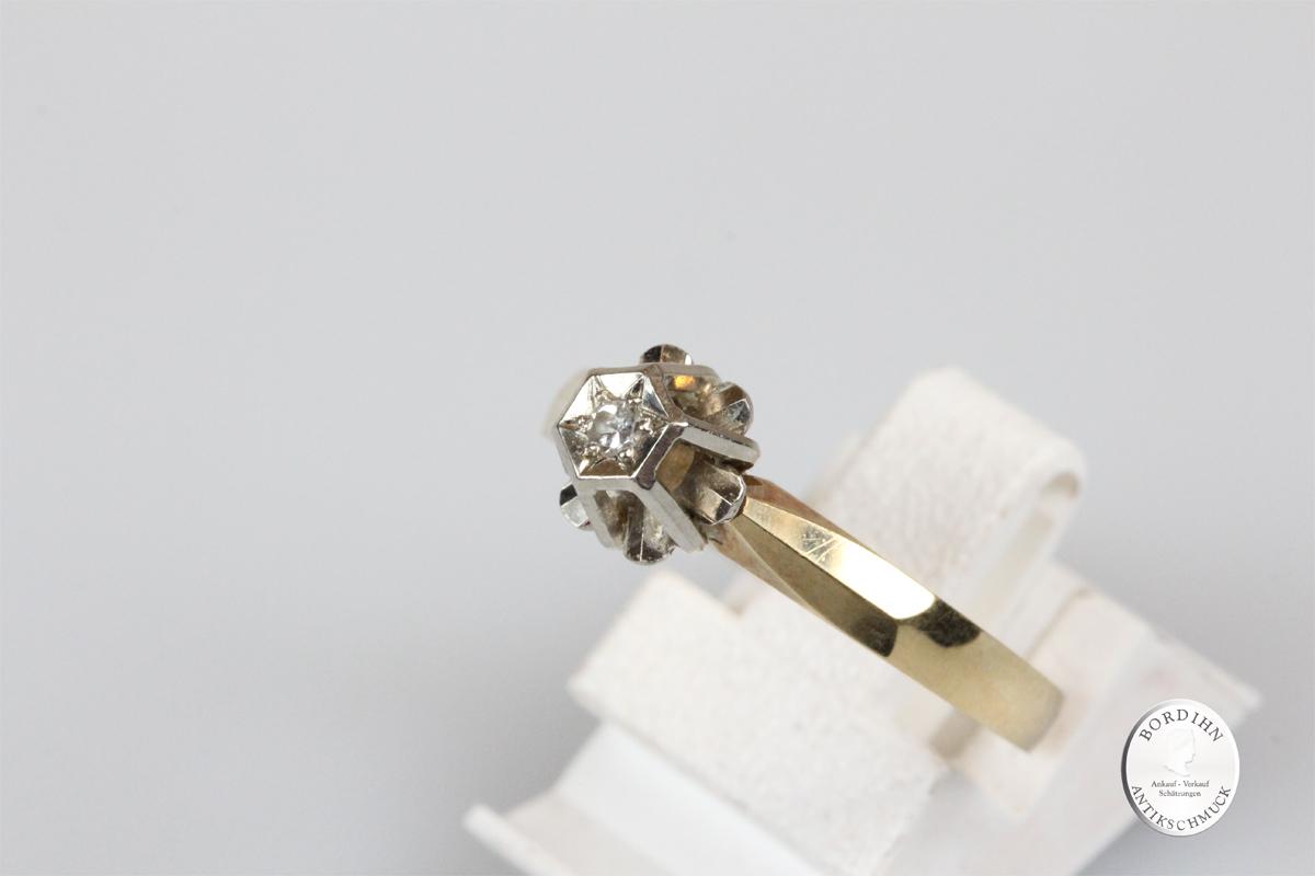 Ring 14 Karat Gold Diamant Goldring Schmuckring Brillant Edelstein