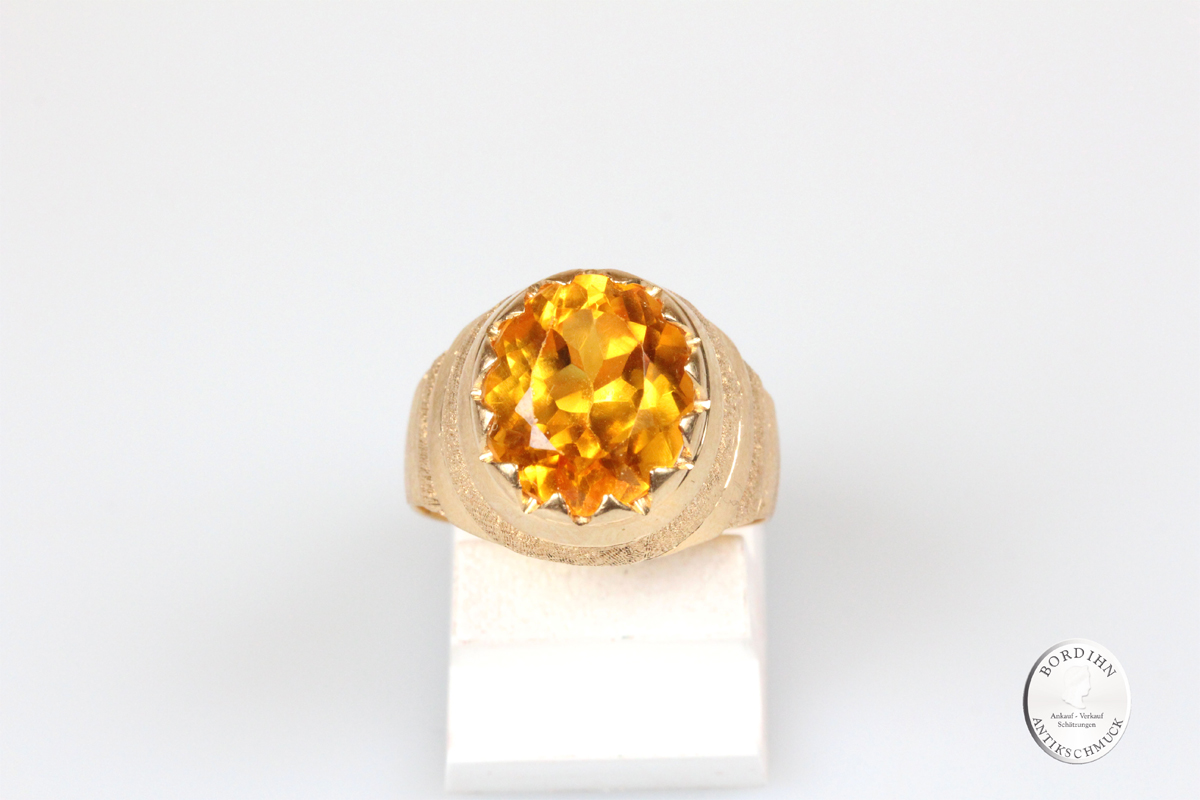 Ring 18 Karat Gold mit Topas Goldring Schmuckring Fingerring Geschenk