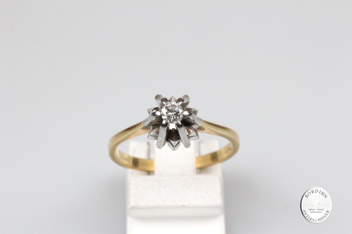 Ring 18 Karat Gold Brillant Goldring Brillantring Schmuckring Geschenk