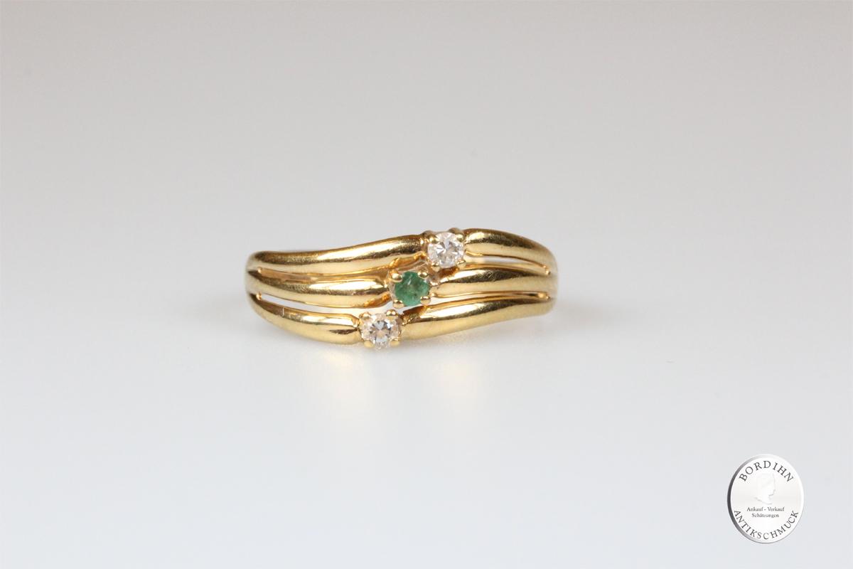 Ring 14 Karat Gold Farbsteine Goldring Schmuck Damen Geschenk