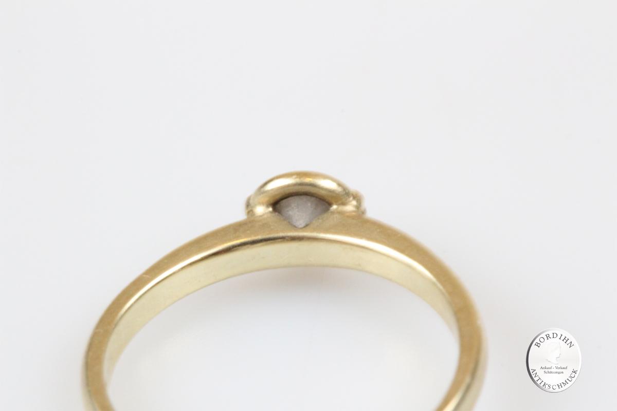 Ring 14 Karat Gold Diamant Goldring Diamantring Schmuckring Geschenk