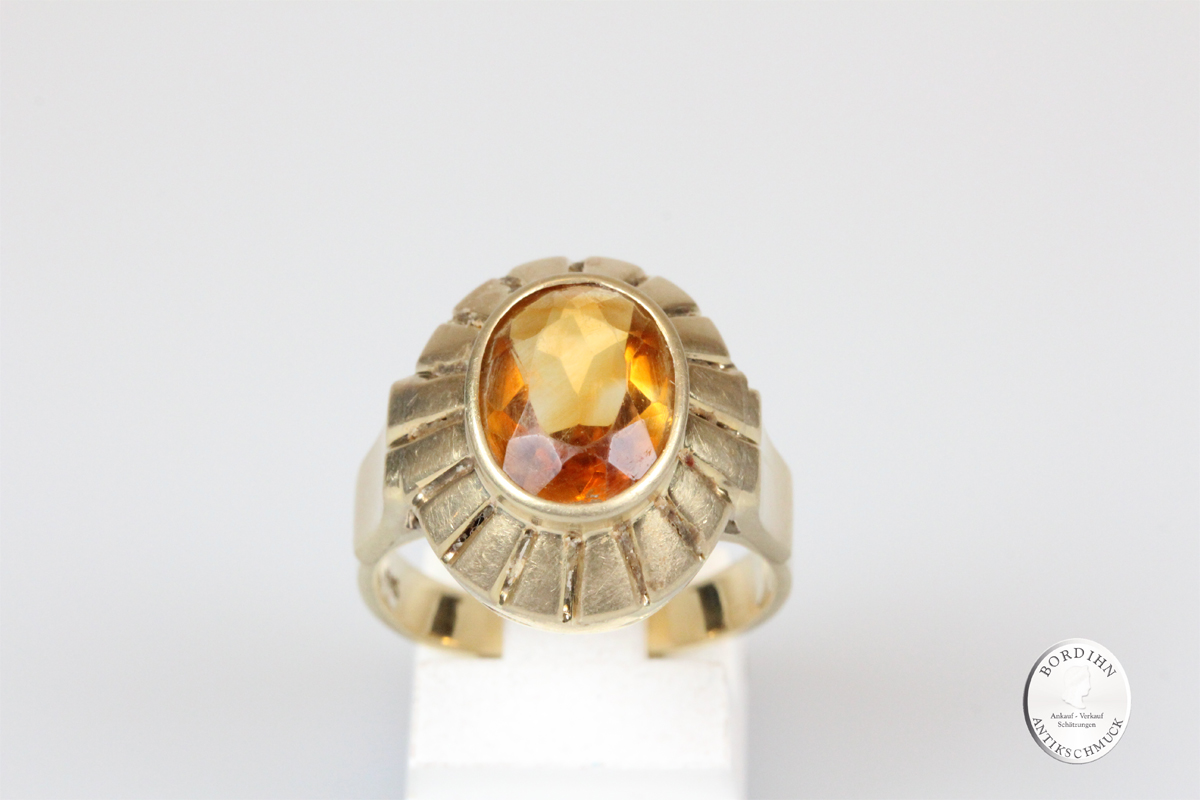 Ring 14 Karat Gold mit Topas Goldring Schmuckring Edelstein Geschenk