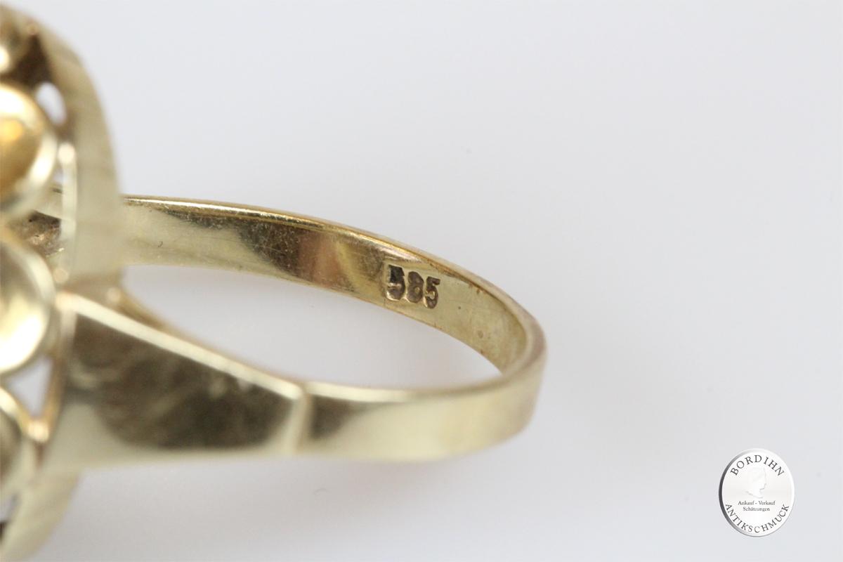 Ring 14 Karat Gold Amethyst Goldring Schmuckring Damenring Geschenk