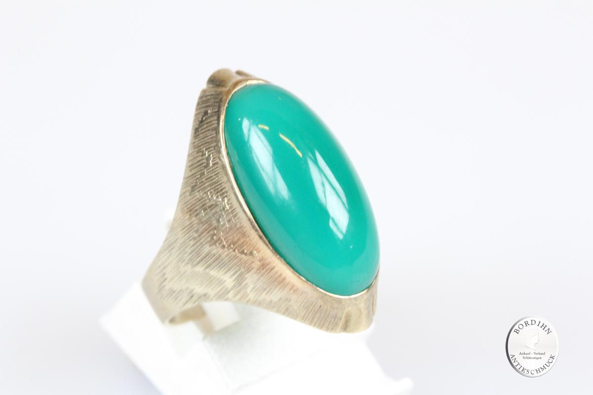 Ring 14 Karat Gold Jade Goldring Schmuckring Schmuck Geschenk Damen
