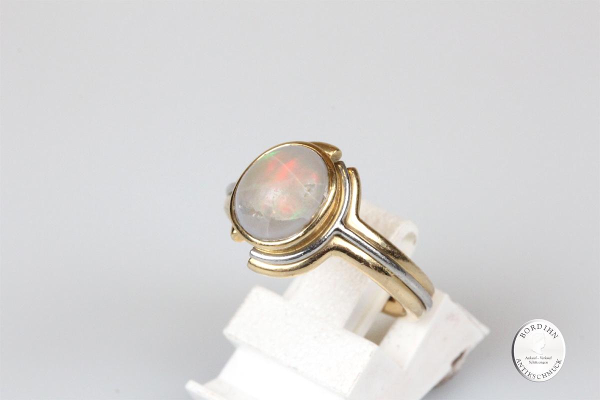 Ring 18 Karat Gold Opal Goldring Schmuckring Damen Schmuck Geschenk