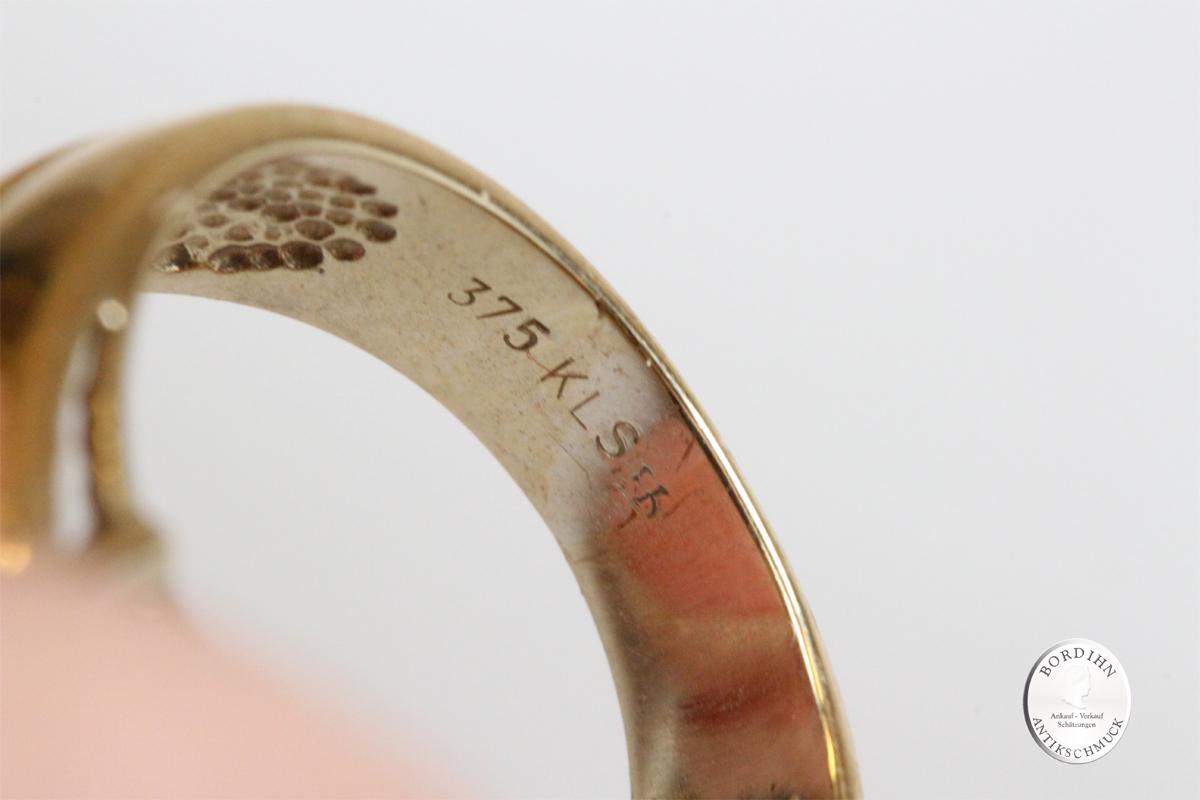 Ring 9 Karat Gold Opal Dublette 4 Brillanten Goldring Schmuck Geschenk